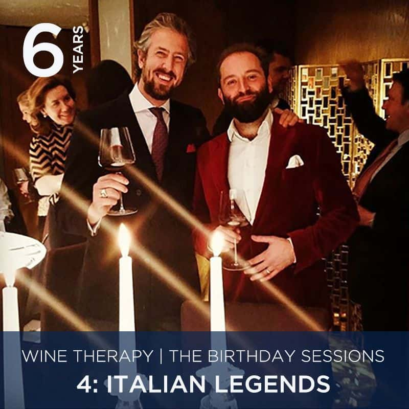 Wine Therapy Birthday Sessions 21st October | 4: Italian Legends